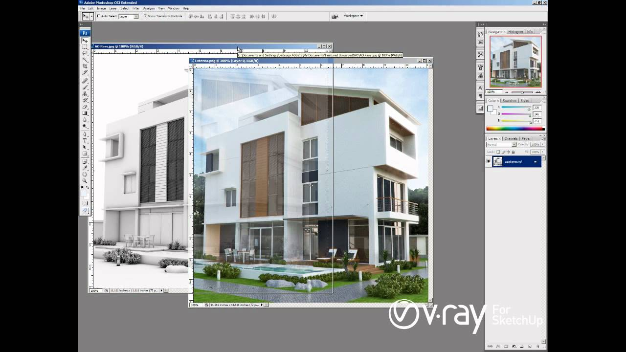V Ray For Sketchup Ambient Occlusion Tutorial Youtube