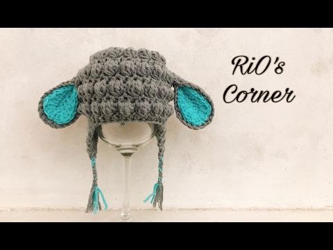 [Crochet] Lamb Hat for baby   Hướng dẫn móc mũ cừu cho bé