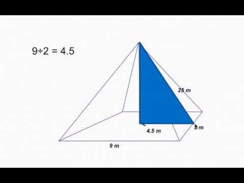 Volume Of A Pyramid Calculate Height Using Pythagorean