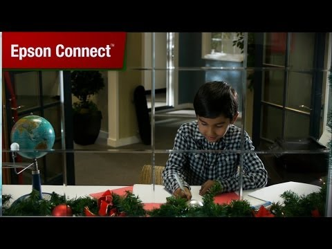 Is Santa too busy to look at a boys wish list? See how this Dad uses Epson Connect to deliver his sons letter right to the printer on Santas desk. See Epson.com/busysanta for more info.