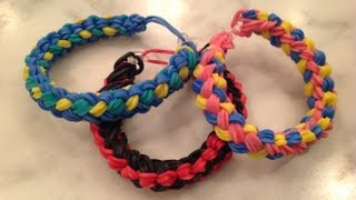 How To Make A Double Braid Rainbow Loom Bracelet Design