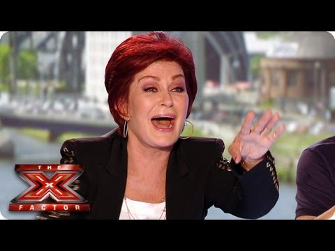 Sharon gets the giggles - The X Factor UK 2013