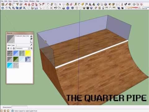 creating a skate park in sketchup tutorial 1 quarter pipe youtube. Black Bedroom Furniture Sets. Home Design Ideas