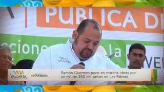 Ramón Guerrero pone en marcha obras por un millón 250 mil pesos en Las Palmas