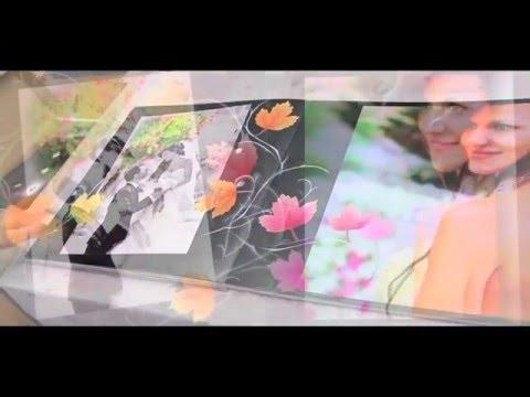 Album matrimonio artistico misto digitale lavorato a mano con pittura