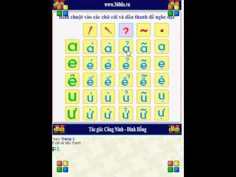 Bảng chữ cái tiếng Việt (Vietnames Alphabet)