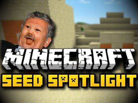 Minecraft Seed Spotlight #23 - TRIPLE DESERT STRONGHOLDS (HD)