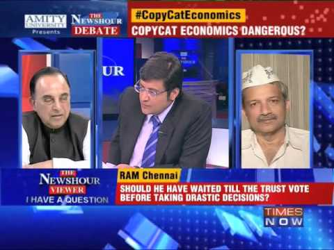 The Newshour Debate: Aping Aam Aadmi Party? - Full Debate (1st Jan 2014)