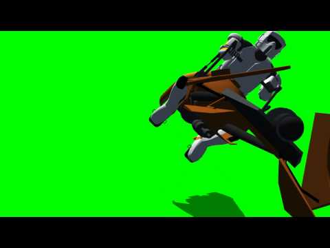 Star Wars Scout Trooper Speeder Bike - different views - 03 -  green screen effects