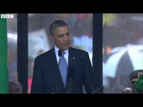 Obama Thanks South Africa For Madiba - Mandela Memorial  10/12/2013