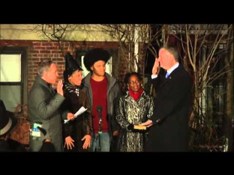 Bill De Blasio Sworn in As NYC Mayor