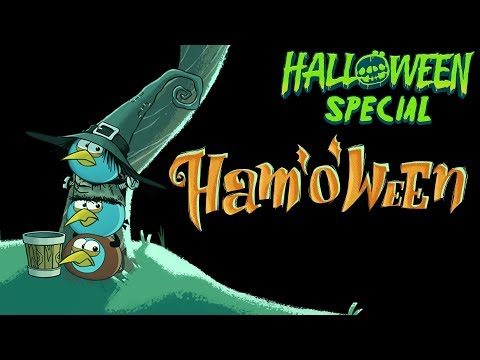 Angry Birds Seasons Ham'O'Ween, Angry Birds presents a spooky Halloween adventure! The Blue Birds are out trick-or-treating when they run into a big surprise -- the newest Angry Bird! He st...