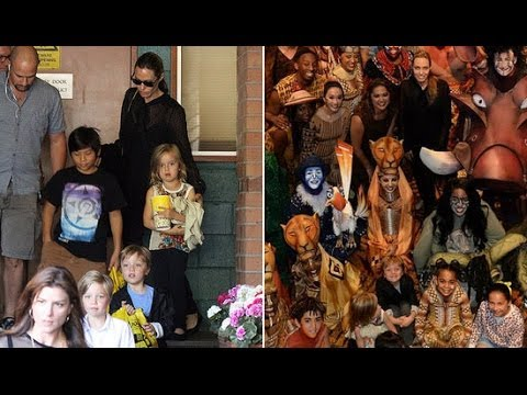 Angelina Jolie and the Jolie-Pitt Kids Go See The Lion King | POPSUGAR News