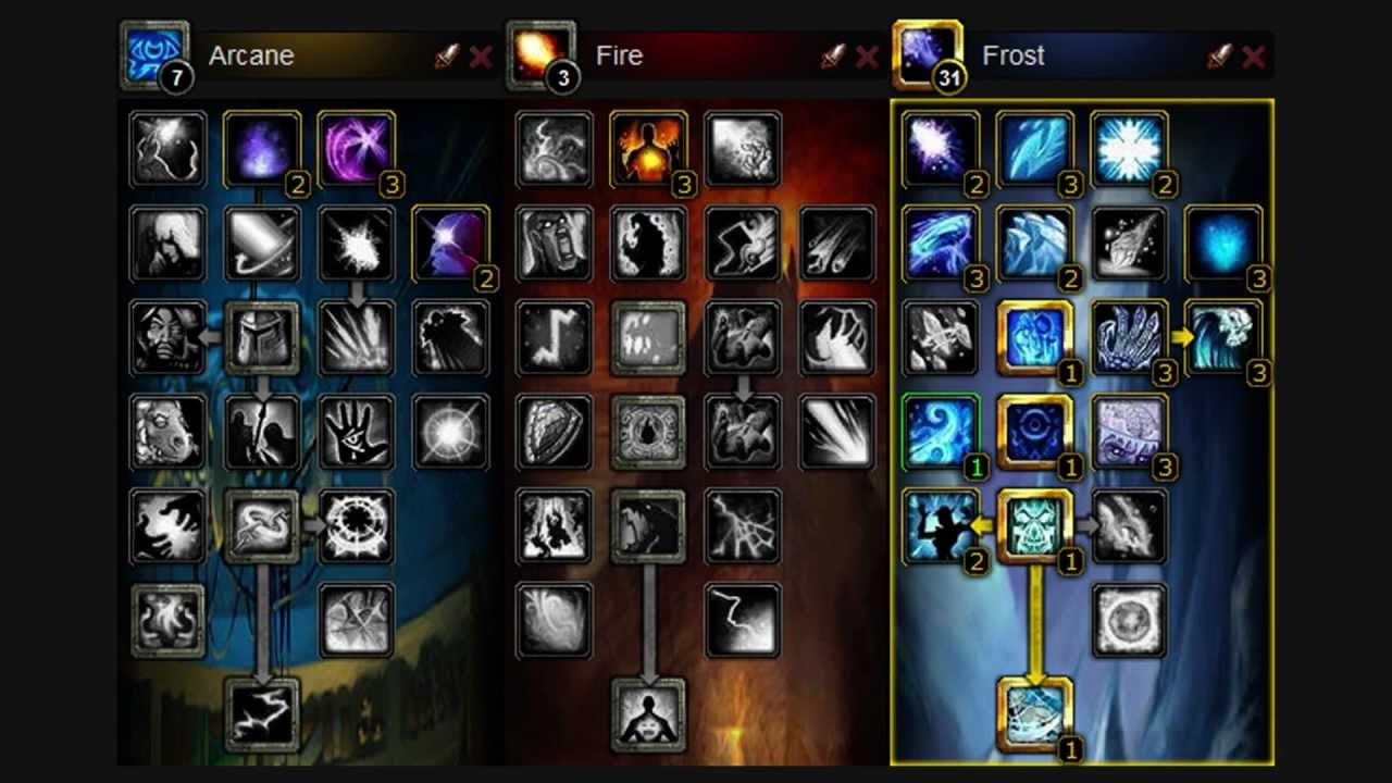 Mage Frost Talent Build