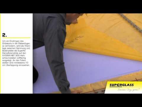 Superglass - Perimeterdammung unter der Bodenplatte