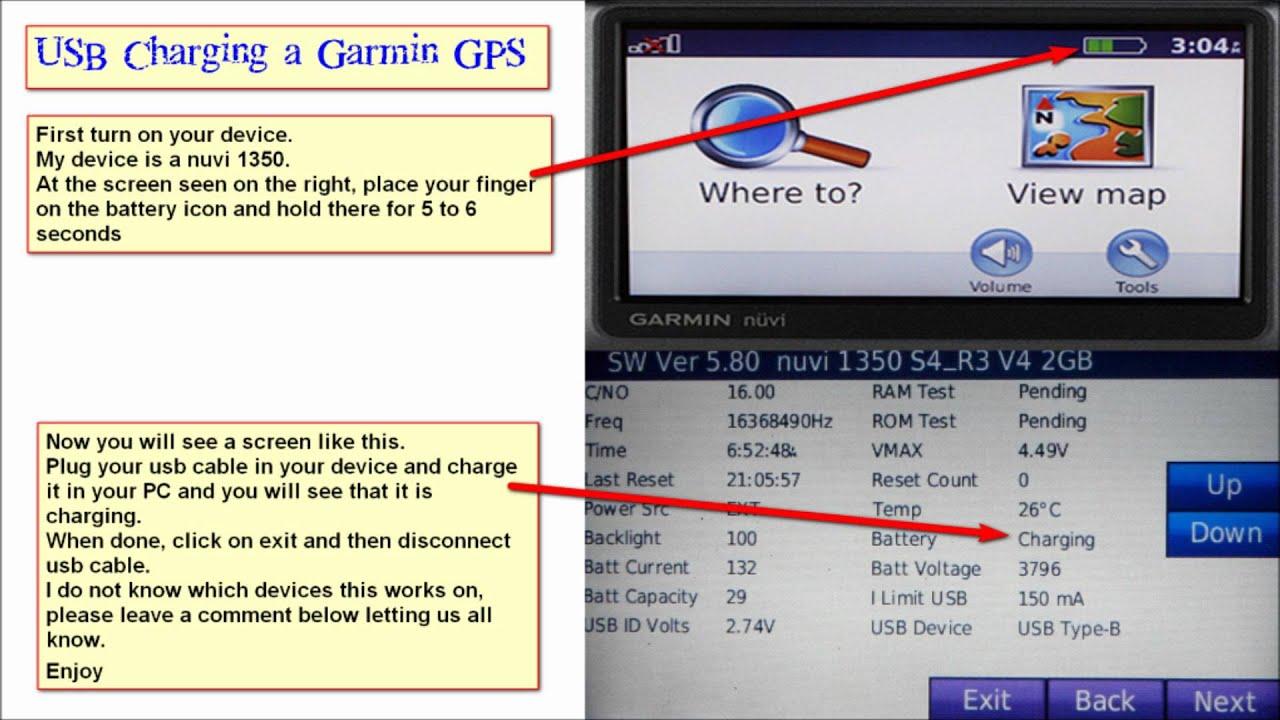 usb charging a garmin gps with pc youtube garmin gps antenna wiring diagram garmin marine gps wiring diagram