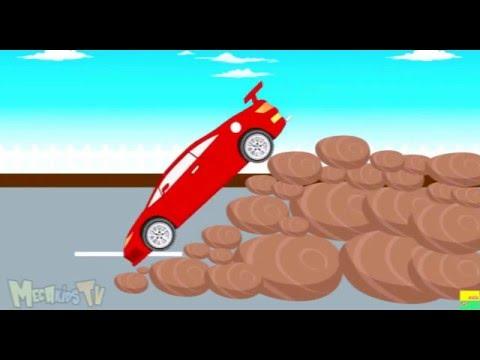 Xe đua tốc độ -  quái vật xe đua -  hoạt hình cho trẻ em