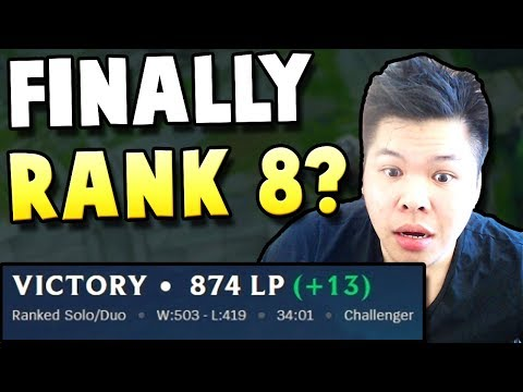 PANTS FINALLY REACHES RANK 8 CHALLENGER? - Challenger to RANK 1