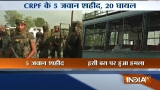 Five CRPF troopers martyred, two millitants killed in Kashmir highway attack