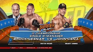 WWE 2K14 John Cena Vs Brock Lesnar SummerSlam For The