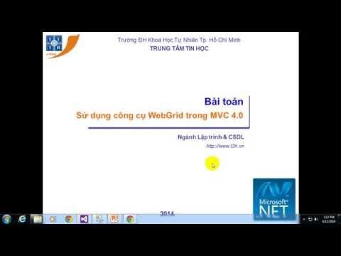 Sử dụng công cụ WebGrid trong MVC 4.0