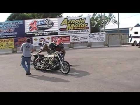 Vintage Double Engine Harley Drag Bike