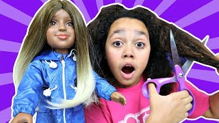 TIANA'S I'M A GIRLY DOLL HAIR MAKEOVER!!