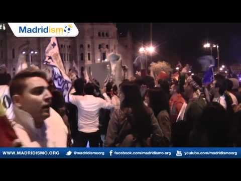 Party in Cibeles, Real Madrid Liga Champions, Campeones Liga 2012