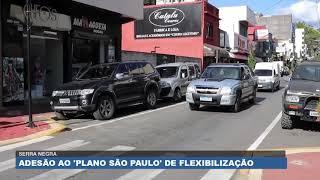 TV Band Mais - Matéria sobre adesão ao Plano São Paulo (Pandemia) - Serra Negra/SP