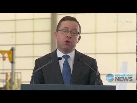 Qantas Alan Joyce talks about new hanger