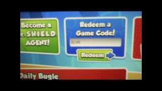code and cheats marvel super hero squad online NOT working
