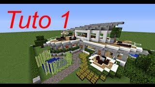 Minecraft tutoriel - maison moderne 1/3 - YouTube