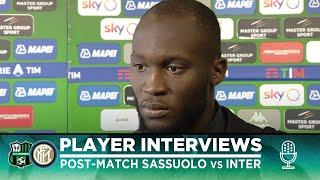 SASSUOLO 3-4 INTER | ROMELU LUKAKU + LAUTARO MARTINEZ + CRISTIANO BIRAGHI INTERVIEWS