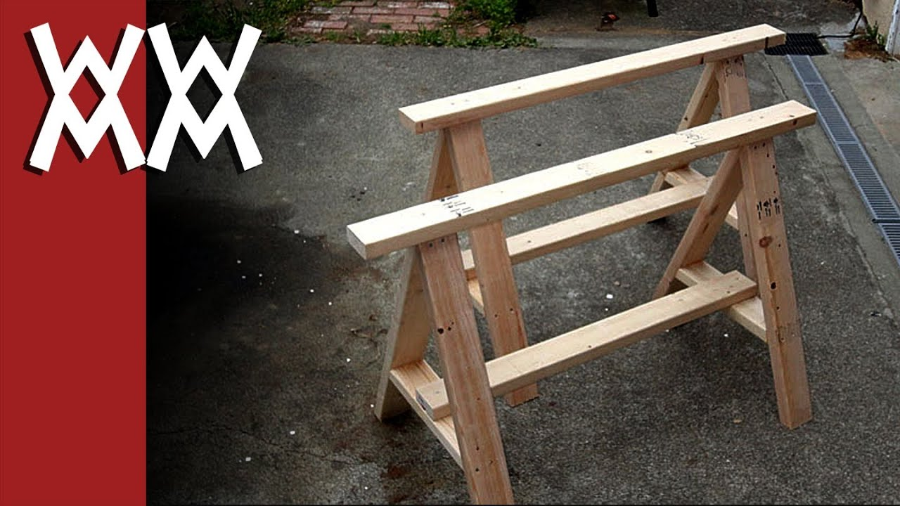 Build a pair of simple sawhorses - YouTube