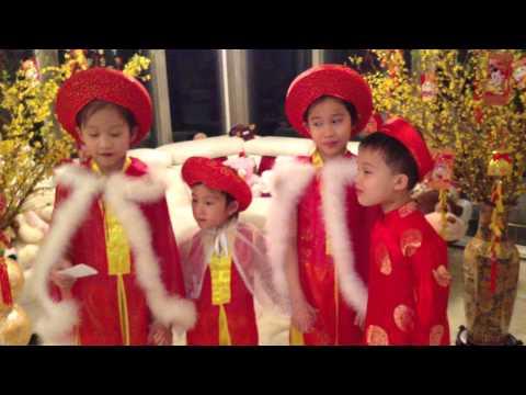 Bao-Tran, Mai-Vy, Nguyen-Tri & Bao-Chau Chuc Tet Dau Nam Quy Ty