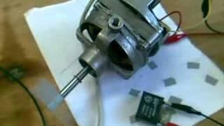 Motor monofásico de un ventilador de pie - Conexiones