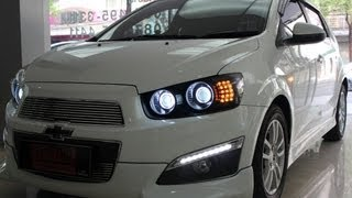 CHEVROLET AVEO/SONIC DUAL PROJECTOR XENON 6000K Vs LED