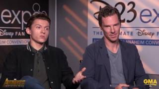 Benedict Cumberbatch Stops Tom Holland From Revealing Any Big Avengers Infinity War Secrets