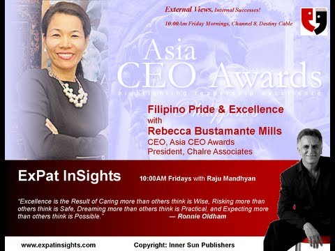 Asia CEO Awards, Philippines with Rebecca Bustamante & Richard Mills