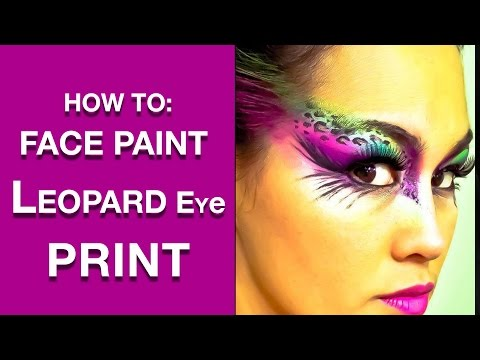 Leopard Print Eyes Face Paint Makeup Tutorial (NYX Face Awards 2012 Submission)
