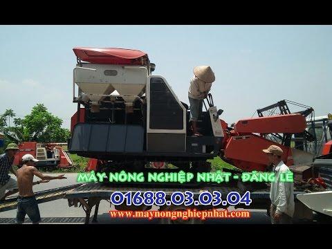 T7 2015 Đăng lê Xuất bán giao máy gặt đập liên hợp Kubota dc 68G thái lan đi Diễn Châu Nghệ An