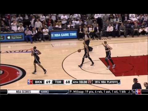 DeMar DeRozan left-handed dunk: Brooklyn Nets at Toronto Raptors, Game 2