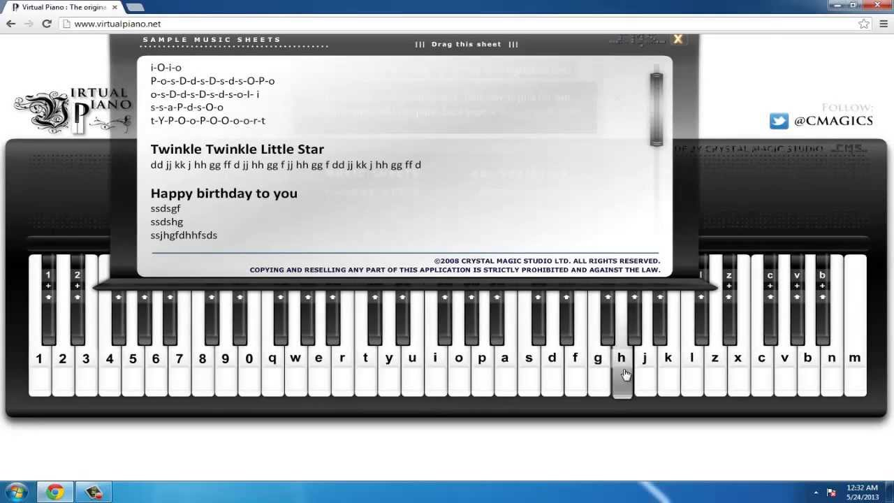 Learn how to play piano on the computer for free mac