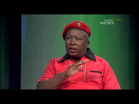 EFF leader Julius Malema on Question Time