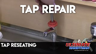 Reseating a tap seat