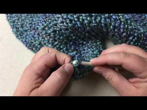 Finish Anchor Yarn on loom knit panel - double knitting loom