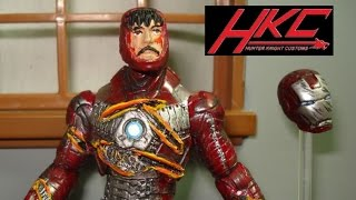 CUSTOM Battle Damaged Iron Man 2 Mark V From The Movie