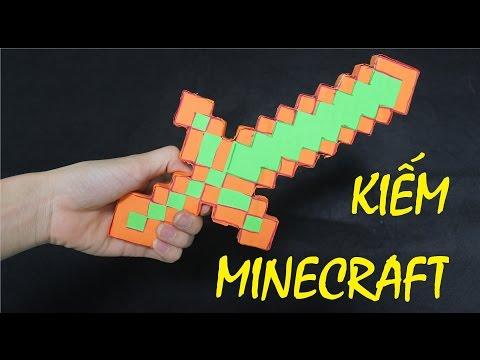 Làm kiếm Kim Cương Minecraft bằng Giấy