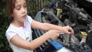 Isabel Knows How Changing The Radiator On A Dodge Grand