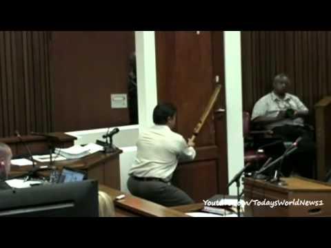 Oscar Pistorius trial: Bathroom door shown in court